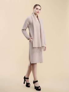 Carmen2016女士长款开叉毛衣