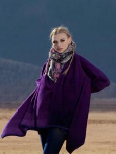 阁兰秀女装紫色罩衫