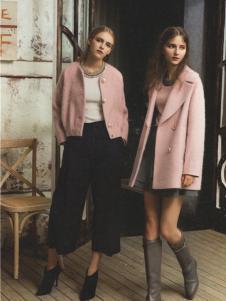 衣魅人2016冬季新款粉色外套