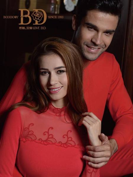 芭蒂欧内衣新款红色套装