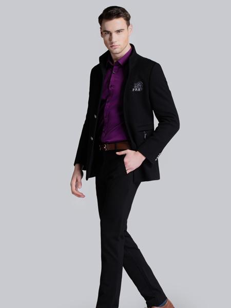 贝克狮丹秋冬黑色棉服