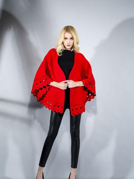 FULLTEAM红色时尚披肩