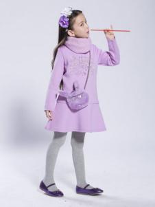 BenKo缤果童装紫色裙装