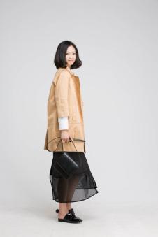 贝洛安女装2017春新品七分袖外套
