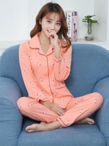 珍妮芬新款甜美睡衣