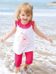 皇后婴儿女小童夏款时尚套装