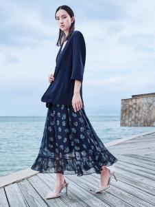 玳莎时尚蓝色外套新款