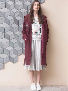 GCCG女装2016秋冬新品长款休闲外套