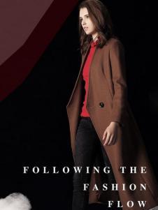 天使舞台棕色长款大衣