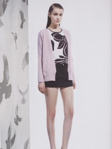 阿莱贝琳紫色针织衫