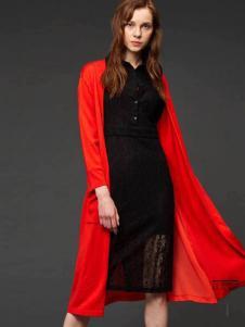 初次印象女裝2016新品黑色蕾絲裙