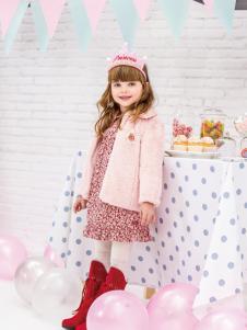 皇后婴儿秋冬新款粉色外套