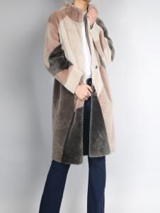 零时尚新款皮草外套