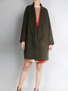 零时尚短款廓形大衣