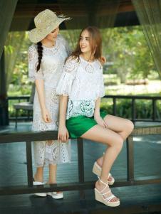 宠爱女人2016新品白色蕾丝裙