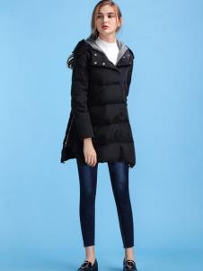 淑女日记女士新款黑色羽绒服