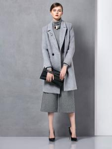 奥伦提冬季新款灰色大衣