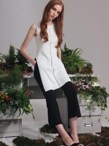 红贝缇2017春夏新款白色连衣裙