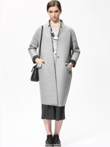 Sofeya女装秋冬新品灰色长款大衣