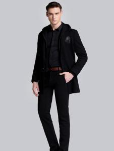 贝克狮丹黑色修身外套