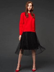 初次印象女装2016新品黑色半裙