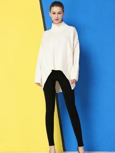 戴莉格琳女士新款高领休闲毛衣