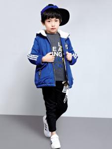 玛玛米雅男童蓝色棉服