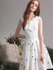 红贝缇2017春夏新款甜美连衣裙