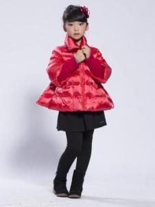 BenKo缤果童装女童廓形羽绒服