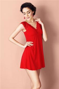芬琦内衣品牌红色性感睡衣