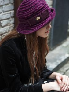 新帽馆秋冬新款时尚红色帽子