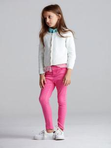 ABC KIDS童装2016新品女童白色开衫