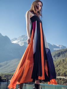 卡索2017夏季新款唯美时尚长裙