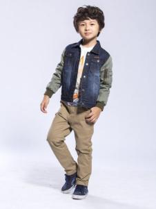 BenKo缤果童装牛仔拼接外套