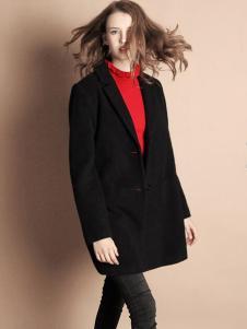 天使舞台黑色款式呢外套