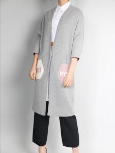 零时尚加厚针织外套