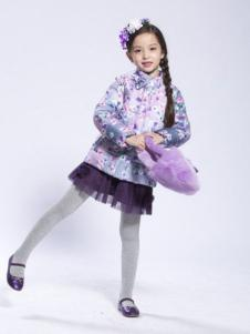 BenKo缤果童装女童印花羽绒服