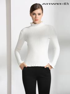爱为女装白色毛衣