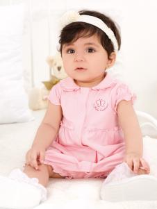 皇后婴儿女小童粉色套装