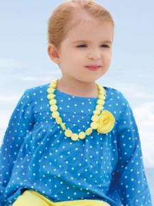 皇后婴儿女小童春夏新款波点上衣