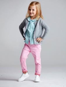 ABC KIDS童装2016新品女童灰色开衫