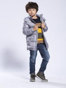 BenKo缤果童装灰色羽绒服