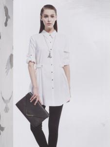 阿莱贝琳白色A字衬衫