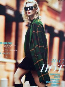 薇妮兰绿色条纹大衣