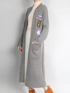 零时尚长款针织外套