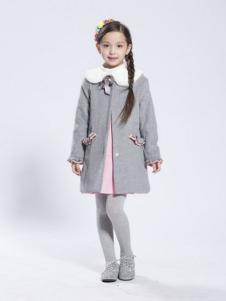 BenKo缤果童装女童呢大衣
