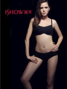 ishow嫒秀内衣2016新款黑色抹胸式文胸