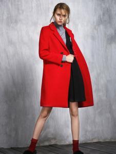 威丝曼女士红色气质大衣