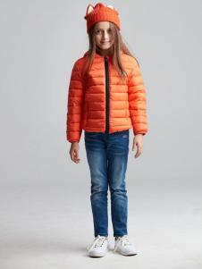 ABC KIDS童装2016新品橙色轻薄羽绒服