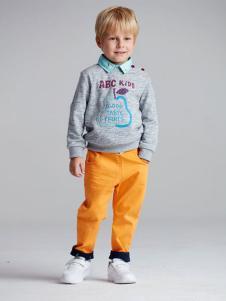 ABC KIDS童装2016新品男童套头卫衣